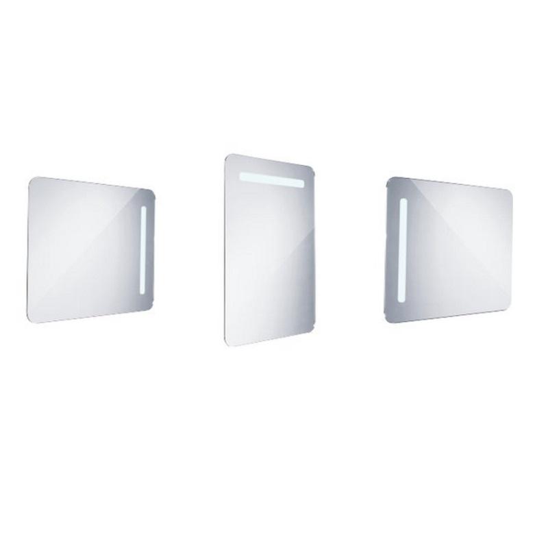NIMCO zrkadlo podsvietené LED 2000 60 x 80 cm hliníkový rám ZP2002