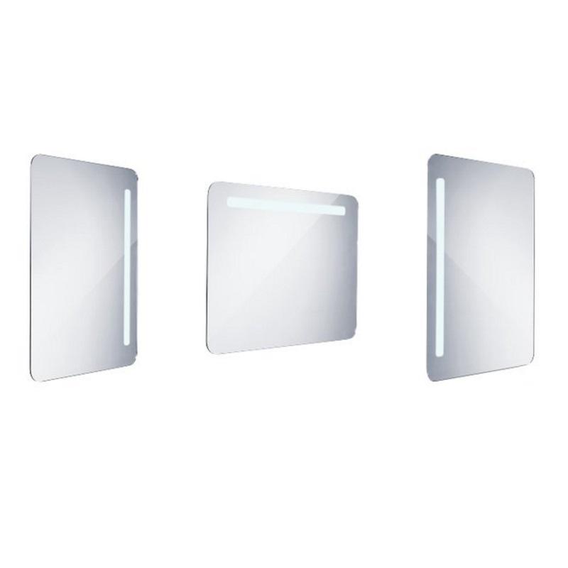 NIMCO zrkadlo podsvietené LED 2000 60 x 80 cm hliníkový rám ZP2003