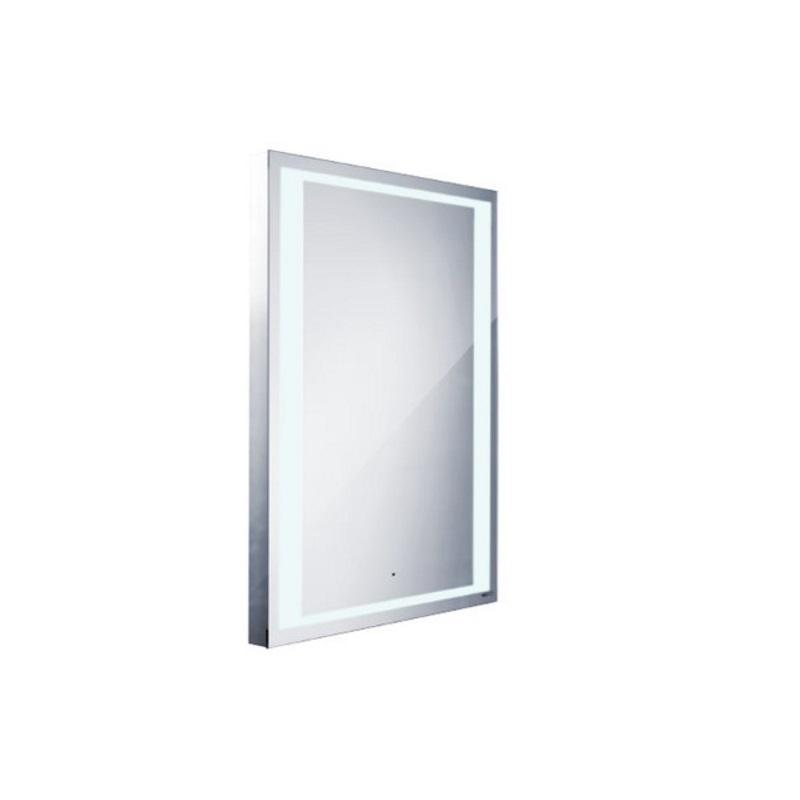 NIMCO zrkadlo podsvietené LED 4000 60 x 80 cm s pohybovým senzorom hliníkový rám ZP4001S