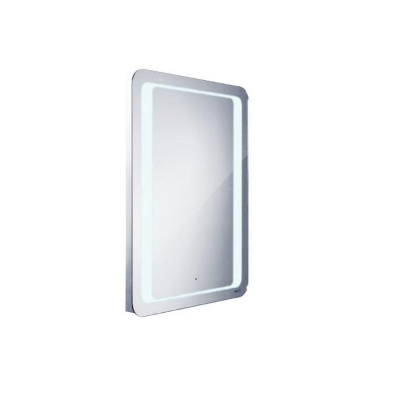 NIMCO zrkadlo podsvietené LED 5000 60 x 80 cm s pohybovým senzorom hliníkový rám ZP5001S