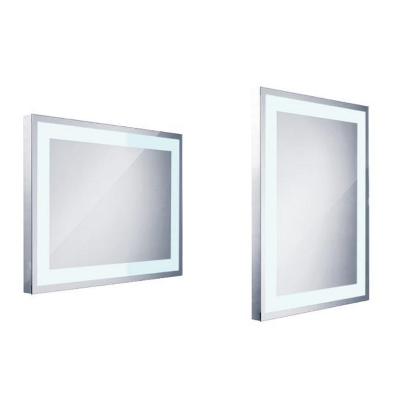 NIMCO zrkadlo podsvietené LED 6000 60 x 80 cm hliníkový rám ZP6001