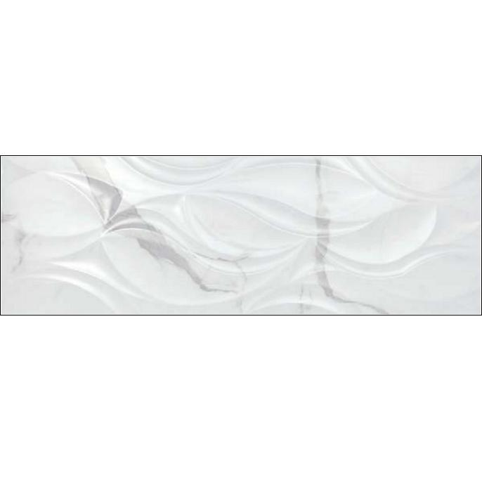 obklad METROPOLITAN ASPEN-B/40 x 120/R reliéf vhľad mramoru lesklá biela