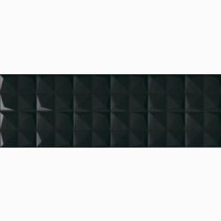 obklad STORM TWISTER-N 25 x 75 čierna lesklá štvorec