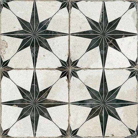 PERONDA Fs dlažba 45 x 45 cm STAR čierna predrezaná matná FSSTARN