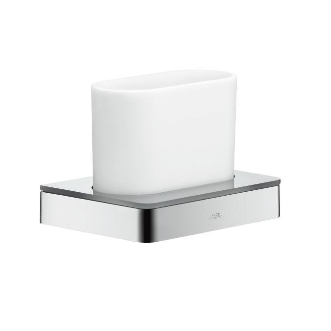 pohár na ústnu hygienu s držiakom AXOR Universal chróm/sklo