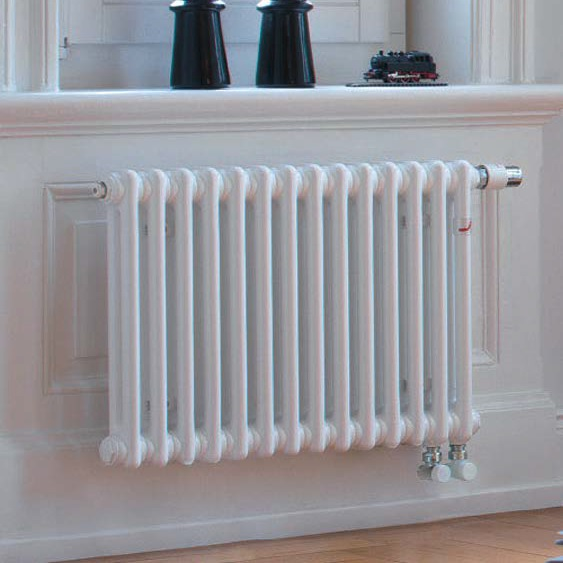 radiátor Zehnder CHARLESTON 600 x 414 x 100 mm spodné pripojenie pravé s int. ventilom biela