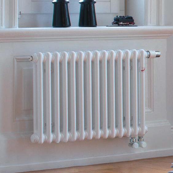 radiátor Zehnder CHARLESTON 600 x 506 x 100 mm spodné pripojenie,pravé s int. ventilom biela