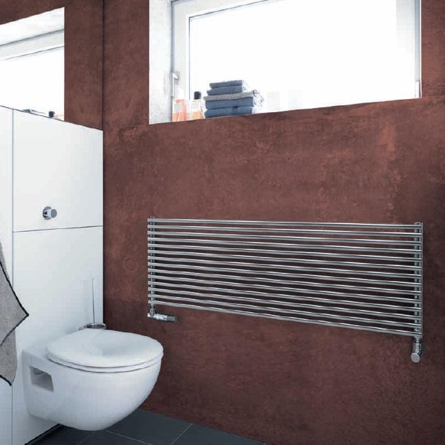 radiátor ZEHNDER KLEO 431 x 900 mm s vonkajším pripojením vodorovný chróm