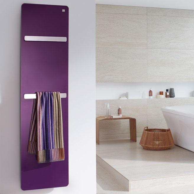 radiátor ZEHNDER VITALO 157 x 50 s držiakom na ručník teplovodé pripojenie stredové, Dark Purple