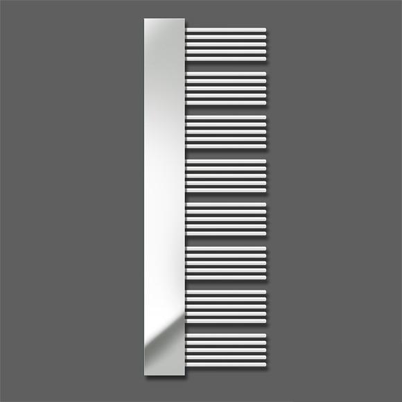 radiátor ZEHNDER YUCCA Mirror 180 x 60 teplovod/kombi chróm