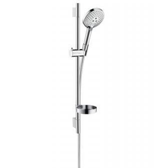 RAINDANCE Select S 120 3jet EcoSmart sprchový set Unica´S Puro 0,90m s mydelničkou biela/chróm 26633400