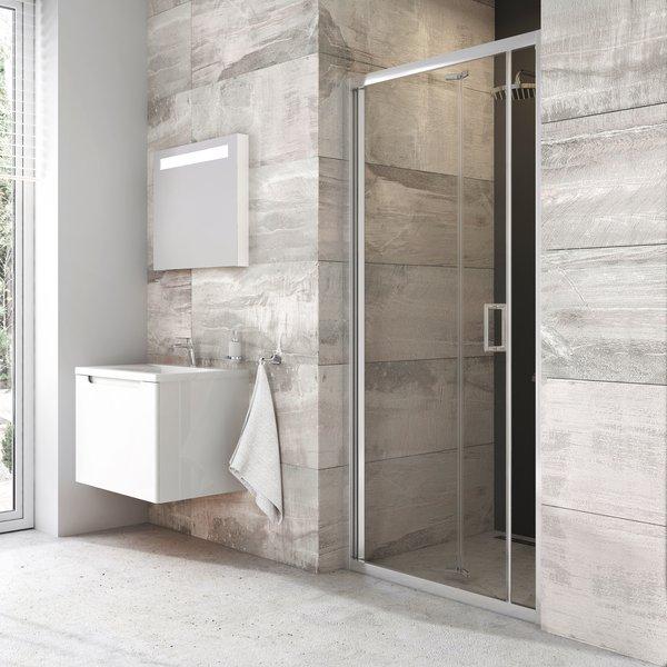 RAVAK Blix sprchové dvere zalamovacie BLDZ2-80 farba lesklý hliník, sklo transparent X01H40C00Z1