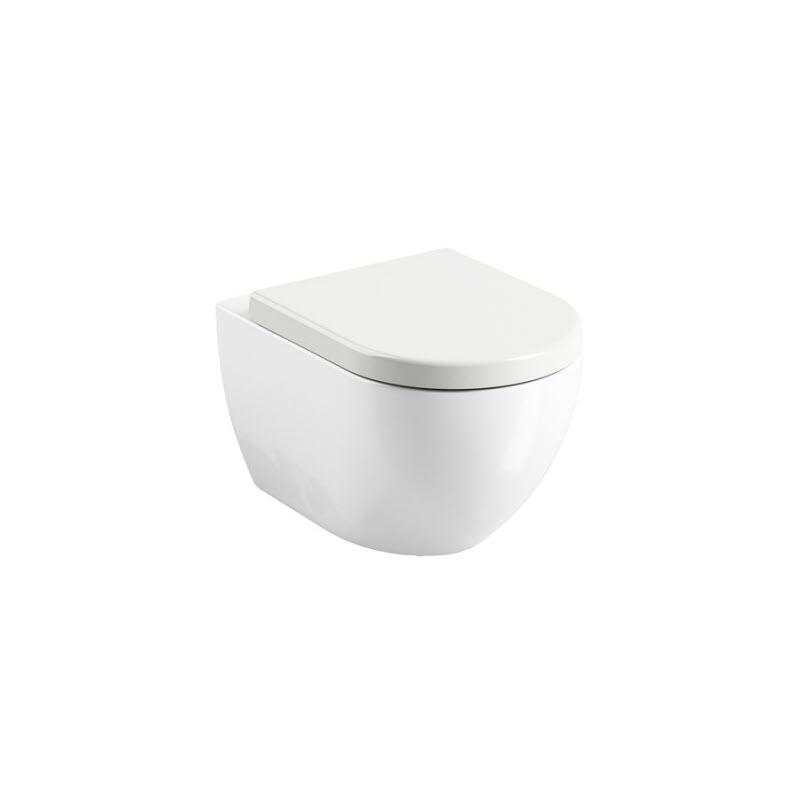RAVAK Chrome WC závesná misa Uni Rim biela  X01516