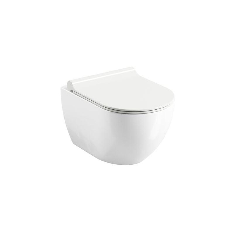 RAVAK Chrome WC závesná misa Uni RimOff biela X01535