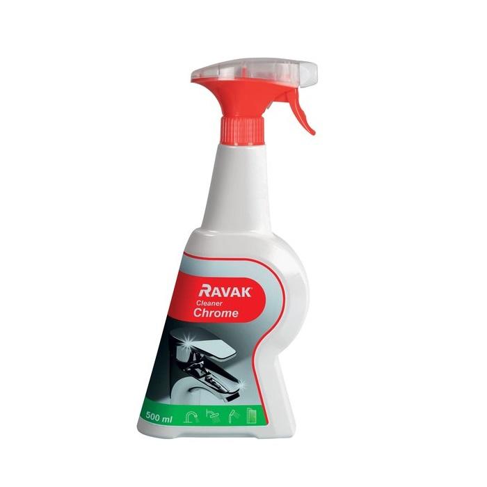 RAVAK Cleaner Chrome -čistiaci prostriedok na batérie 500 ml,  X01106