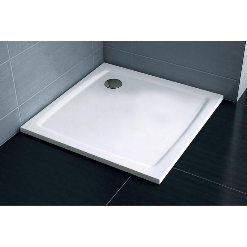 RAVAK GALAXY sprchová vanička Perseus Pro-90 Flat 4-uholník liaty mramor biela, XA037711010