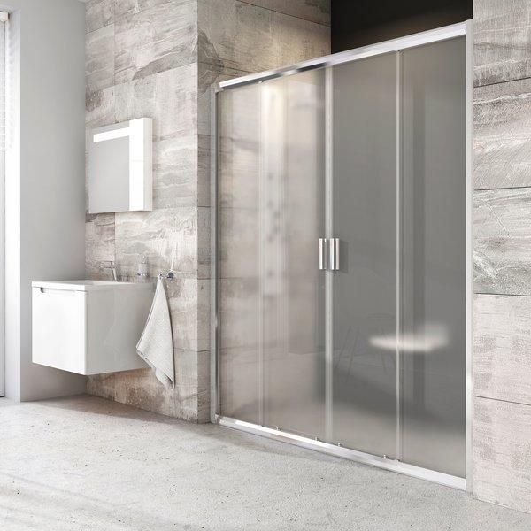 RAVAK Harrs sprchové posuvné dvere 4-dielne 130cm satin, grape 0YVJ0U00ZG