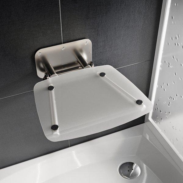 RAVAK OVO-B II sedátko do sprchy sklopné CLEAR/nerez, B8F0000051