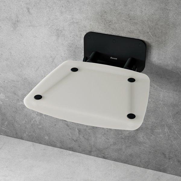 RAVAK OVO-B II sedátko do sprchy sklopné OPAL/BLACK,B8F0000060