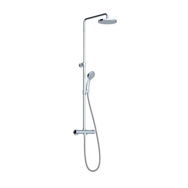 RAVAK sprchový stĺp TE 091.00/150 Termo 100  flexibilný s termostatom  a sprchovým setom chróm X070058