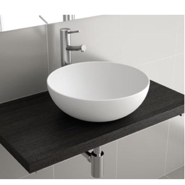 SALGAR ALTIRO umývadlo na dosku miska Extra-Slim priemer 39 x 14 cm kruhové bez prepadu biela matná
