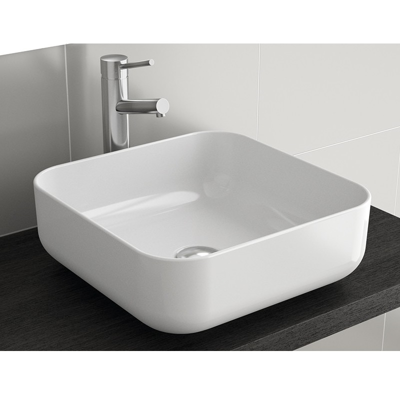 SALGAR DOLCE umývadlo na dosku bez prepadu Extra-Slim 39x39x14cm biela 24554