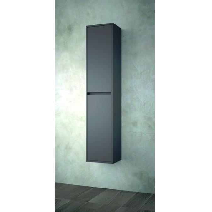 SALGAR NOJA skrinka 140x30x24 vysoká závesná matná šedá