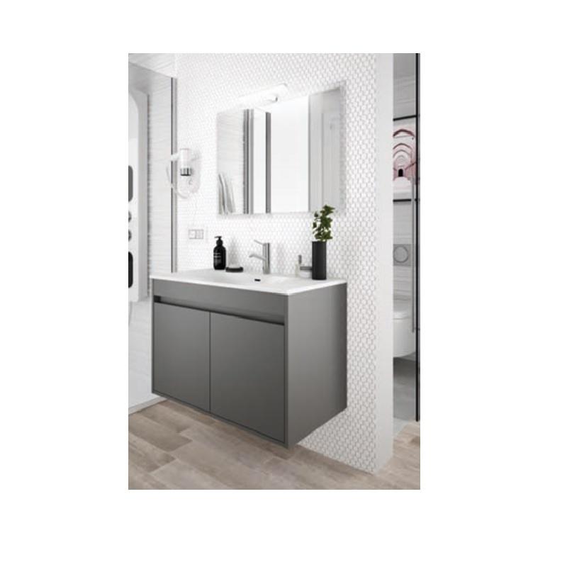 SALGAR Noja skrinka s umývadlom 60 2-dverová matná šedá