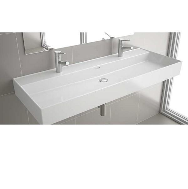 SALGAR VENETO nábytkové umývadlo 121 x 46 cm s prepadom  s 2-otvormi na batériu s 1 odtokom biela