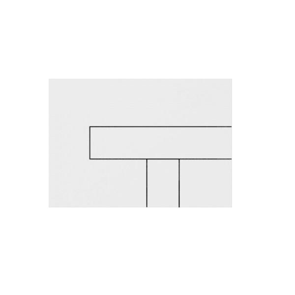 SANIT Los tlačítko ovládacie alpská biela 313008