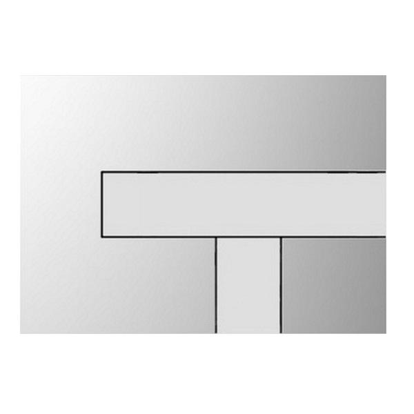 SANIT Los tlačítko ovládacie chróm/alpská biela 314556