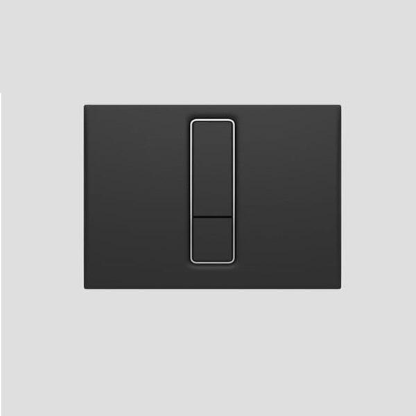 SANIT - ovládacie tlačidlo WC INEO Bright Duroplast čierna, 16.751.82..0000