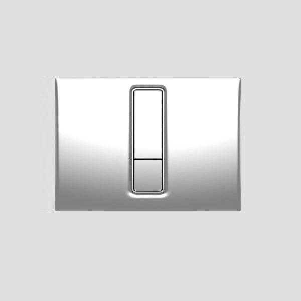 SANIT - ovládacie tlačidlo WC INEO Bright lesklý chróm, 16.750.81..0000