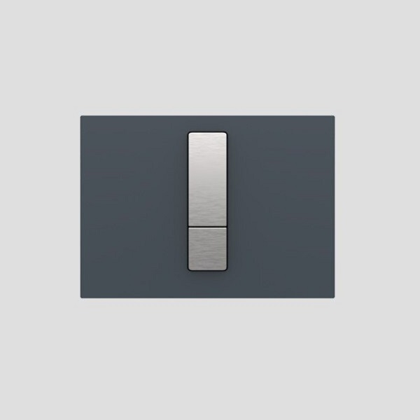 SANIT - ovládacie tlačidlo WC INEO Bright Sklo antracit, 16.752.41..0000
