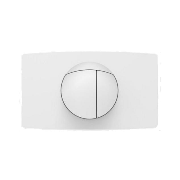 SANIT - ovládacie tlačidlo WC typ L DUAL biele OLD veľkoformátové mechanické 33,8 x 19,6 cm 16.018.01..0000