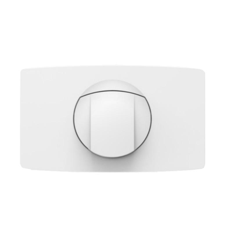 SANIT - ovládacie tlačidlo WC typ L Start-STOP biele veľkoformátové mechanické 33,4 x 19,2 cm 16.021.01..0000