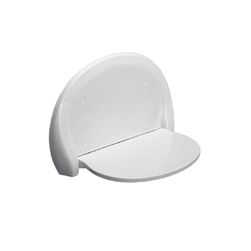 SANIT sedátko do sprchy sklopné OVAL biele
