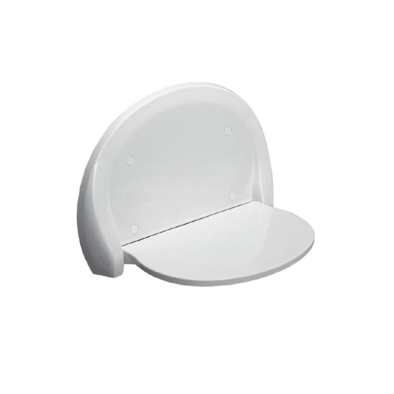 SANIT sedátko do sprchy sklopné OVAL biele, 54.001.01..0000