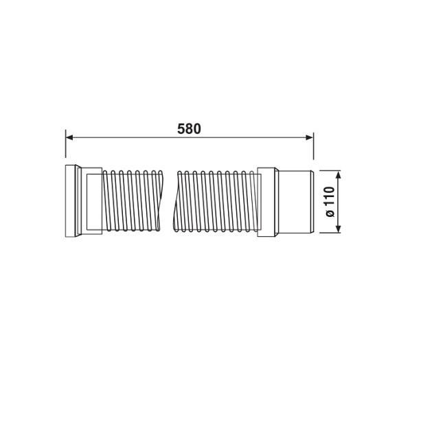 SANIT WC trubka flexibilná 5810800