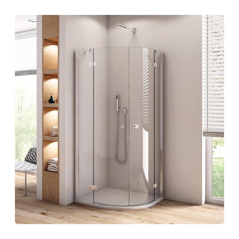 SANSWISS Annea sprchový kút 90 s  2-krídlovými dverami aluchróm číre sklo  ANR5509005007