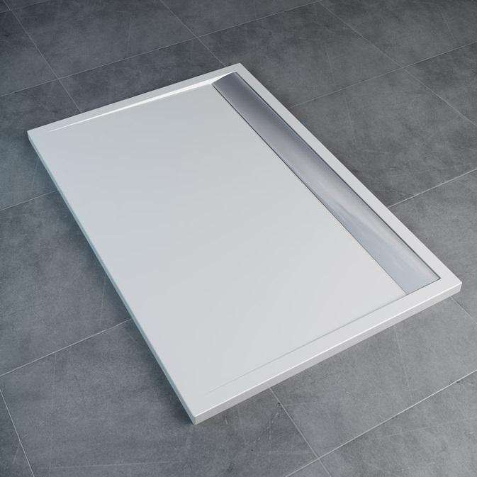 SANSWISS Ila sprchová vanička 80 x 100 cm biela WIA801005004