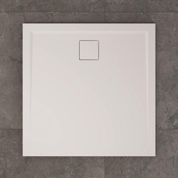 SANSWISS LIVADA sprchová vanička 4-uholník 100 x 100 cm biela W20Q10004