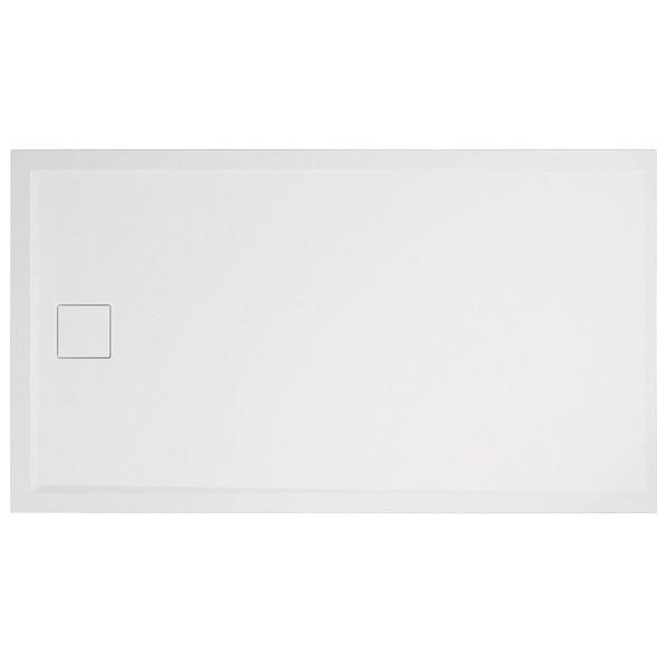 SANSWISS LIVADA vanička sprchová W20AS obdĺžnik 80 x 90 cm so sifónom na kratšej strane, biela, W20AS08009004