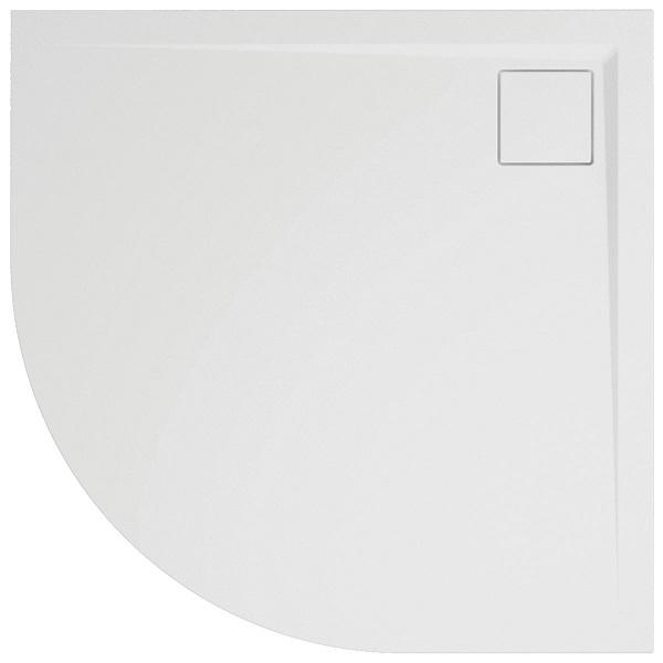 SANSWISS LIVADA vanička sprchová W20R 1/4 kruh 80 x 80 cm biela W20R5508004