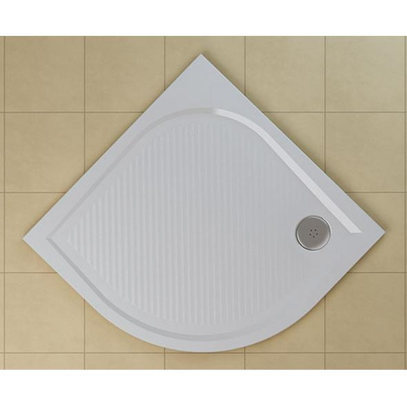SANSWISS Marblemate sprchová vanička 1/4 kruh 80 cm biela WMR55080004