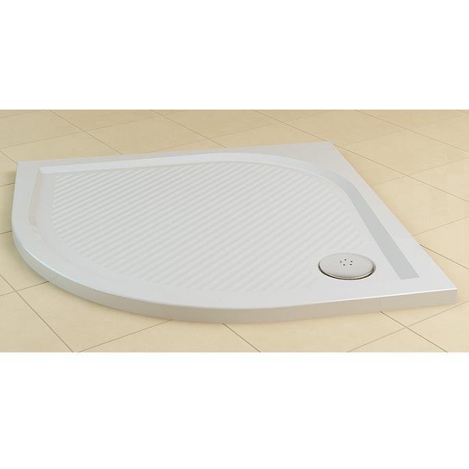 SANSWISS Marblemate sprchová vanička 1/4-kruh 90 cm biela WMR55090004