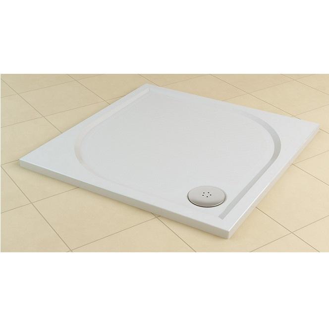 SANSWISS Marblemate sprchová vanička 4-uhol 100 cm biela WMQ100004