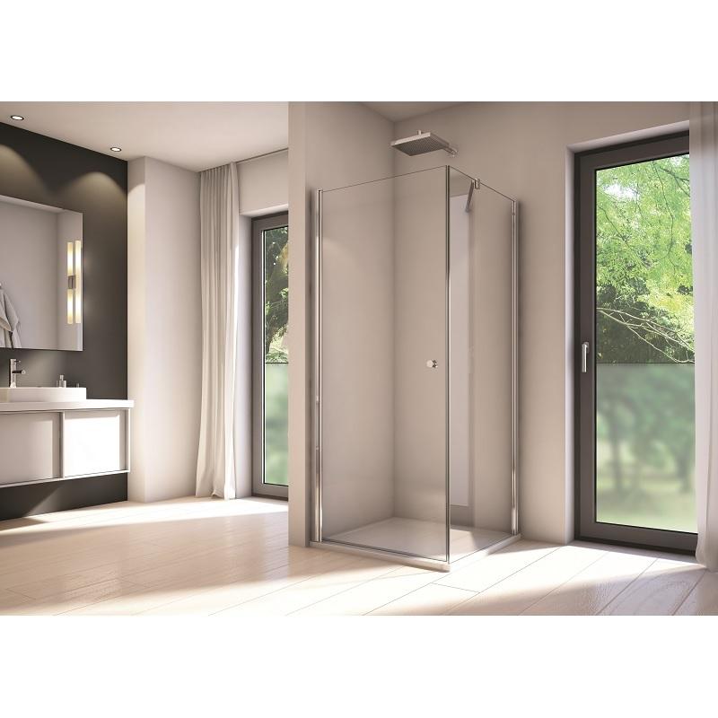 SANSWISS Solino bočná stena 80cm aluchróm číre sklo s AquaPerle SOLT108005007