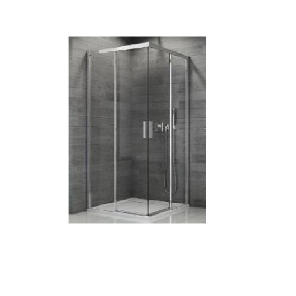 SANSWISS TOP-Line 80 sprchový kút s 2-dielnymi dverami aluchróm číre sklo TBFAC08005007