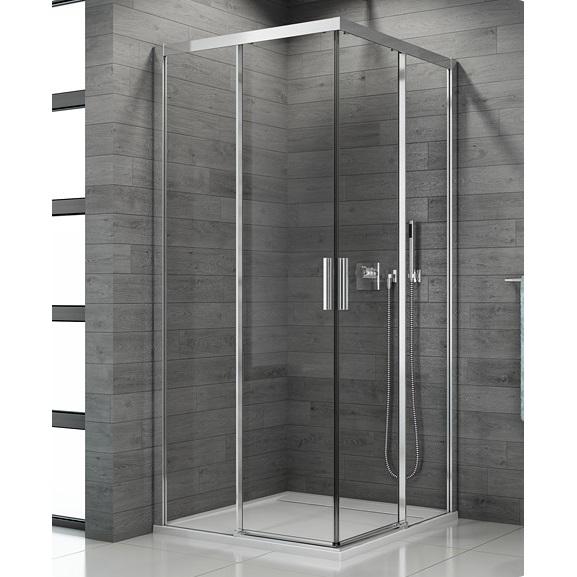 SANSWISS TOP-Line 90 sprchový kút s 2-dielnymi dverami aluchróm číre sklo TBFAC09005007